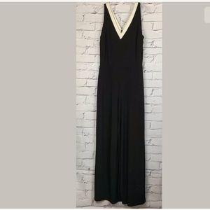Ralph Lauren Women's Black Long Jumpsuit Medium
